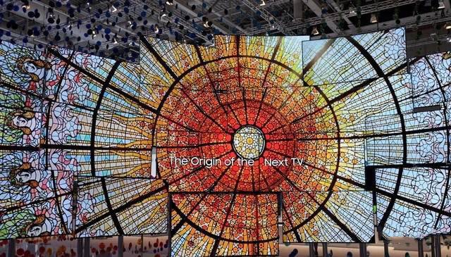 large wall screen display