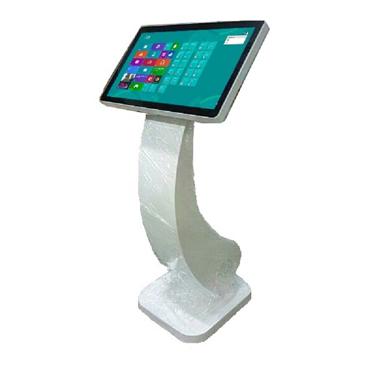 22 inches touch screen kiosk half stand