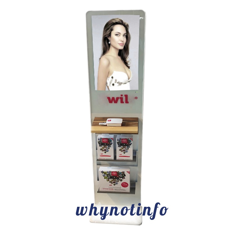 22 white digital sign with paper holder
