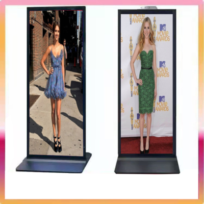 70 75 inches Freestanding digital signage full screen Lcd digital totem