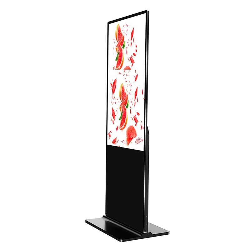 slim floor standing digital signage totem
