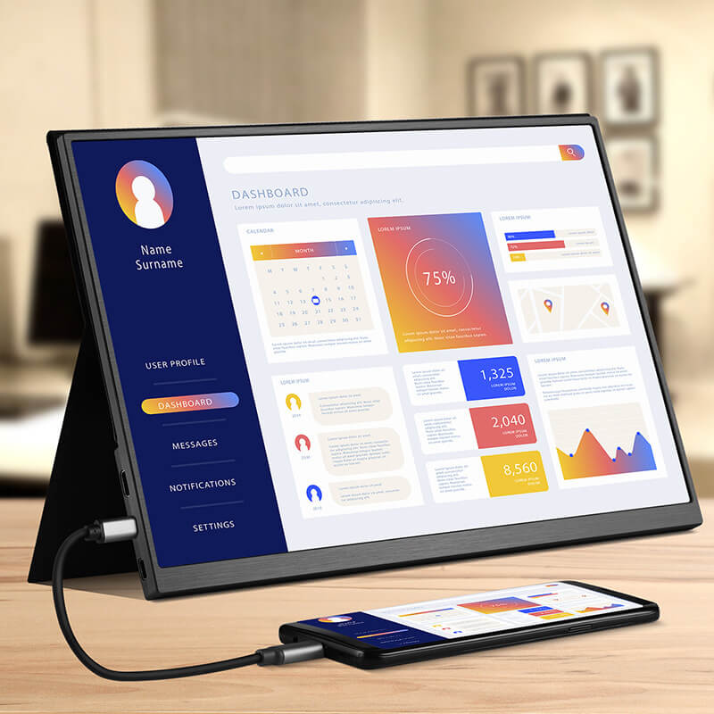 Portable 15.6Inch Touch Monitor